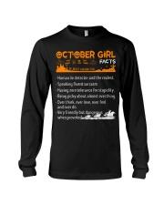 October Girl Halloween Long Sleeve Tee tile
