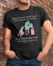 Gift For Grandma - Behind Every Barrel Racer Grandma Classic T-Shirt apparel-classic-tshirt-lifestyle-26