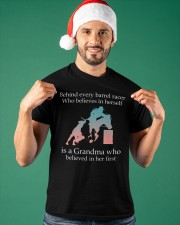Gift For Grandma - Behind Every Barrel Racer Grandma Classic T-Shirt apparel-classic-tshirt-lifestyle-front-85