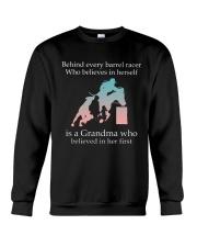 Gift For Grandma - Behind Every Barrel Racer Grandma Crewneck Sweatshirt tile