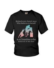 Gift For Grandma - Behind Every Barrel Racer Grandma Youth T-Shirt tile