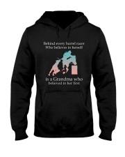 Gift For Grandma - Behind Every Barrel Racer Grandma Hooded Sweatshirt tile