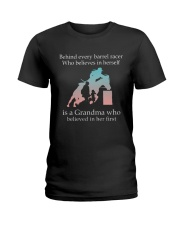 Gift For Grandma - Behind Every Barrel Racer Grandma Ladies T-Shirt tile