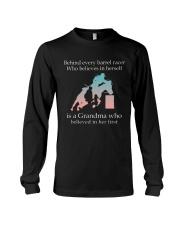 Gift For Grandma - Behind Every Barrel Racer Grandma Long Sleeve Tee tile