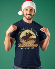 Some Sports Play With Balls Bull Riding Classic T-Shirt apparel-classic-tshirt-lifestyle-front-85