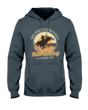 Some Sports Play With Balls Bull Riding Hooded Sweatshirt tile