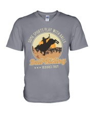 Some Sports Play With Balls Bull Riding V-Neck T-Shirt tile