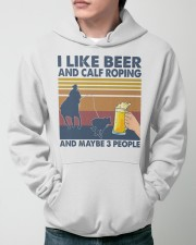 I Like Beer And Calf Roping Hooded Sweatshirt apparel-hooded-sweatshirt-lifestyle-front-45