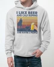 I Like Beer And Calf Roping Hooded Sweatshirt apparel-hooded-sweatshirt-lifestyle-front-50