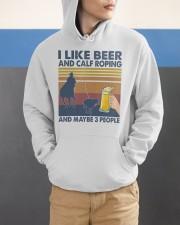 I Like Beer And Calf Roping Hooded Sweatshirt apparel-hooded-sweatshirt-lifestyle-front-53