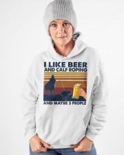 I Like Beer And Calf Roping Hooded Sweatshirt apparel-hooded-sweatshirt-lifestyle-front-83