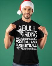 Bull Riding Because Baseball Football Basketball Classic T-Shirt apparel-classic-tshirt-lifestyle-front-85
