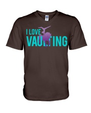 Equestrian Vaulting V-Neck T-Shirt tile