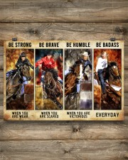 Be Strong Be Brave Be Humble Be Barass Barrel Race 24x16 Poster aos-poster-landscape-24x16-lifestyle-15