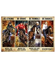 Be Strong Be Brave Be Humble Be Barass Barrel Race 24x16 Poster front