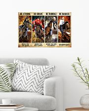 Be Strong Be Brave Be Humble Be Barass Barrel Race 24x16 Poster poster-landscape-24x16-lifestyle-01