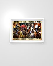 Be Strong Be Brave Be Humble Be Barass Barrel Race 24x16 Poster poster-landscape-24x16-lifestyle-02