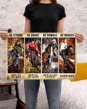 Be Strong Be Brave Be Humble Be Barass Barrel Race 24x16 Poster poster-landscape-24x16-lifestyle-20