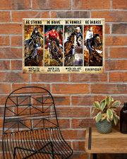 Be Strong Be Brave Be Humble Be Barass Barrel Race 24x16 Poster poster-landscape-24x16-lifestyle-24
