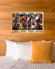 Be Strong Be Brave Be Humble Be Barass Barrel Race 24x16 Poster poster-landscape-24x16-lifestyle-27