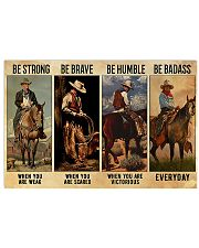 Be Strong Be Brave Be Humble Be Barass Horizontal Poster tile