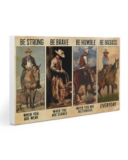 Be Strong Be Brave Be Humble Be Barass Gallery Wrapped Canvas Prints tile