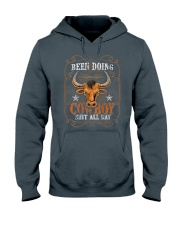 Been Doing Cowboy Shit All DayBull Riding Hooded Sweatshirt tile