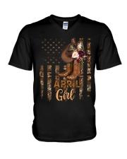 April Girl V-Neck T-Shirt tile