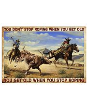 Don't Stop Roping When You Get Old Team Roping 24x16 Poster front