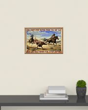 Don't Stop Roping When You Get Old Team Roping 24x16 Poster poster-landscape-24x16-lifestyle-09