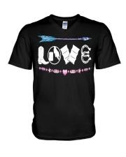 Love Barrel Racing V-Neck T-Shirt tile