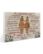 I Choose You Love Gallery Wrapped Canvas Prints tile