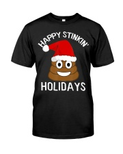 Christmas Poop Emoji T-Shirt Happy Stinkin Classic T-Shirt thumbnail