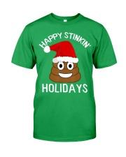 Christmas Poop Emoji T-Shirt Happy Stinkin Classic T-Shirt front