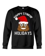 Christmas Poop Emoji T-Shirt Happy Stinkin Crewneck Sweatshirt thumbnail