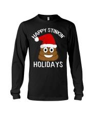 Christmas Poop Emoji T-Shirt Happy Stinkin Long Sleeve Tee thumbnail