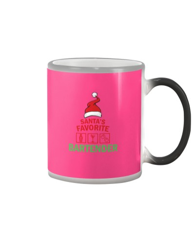 Santas Favorite Batender - Bartender T shirt
