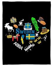 "Love Sweden - Sweden Fleece Blanket Small Fleece Blanket - 30"" x 40"" thumbnail"
