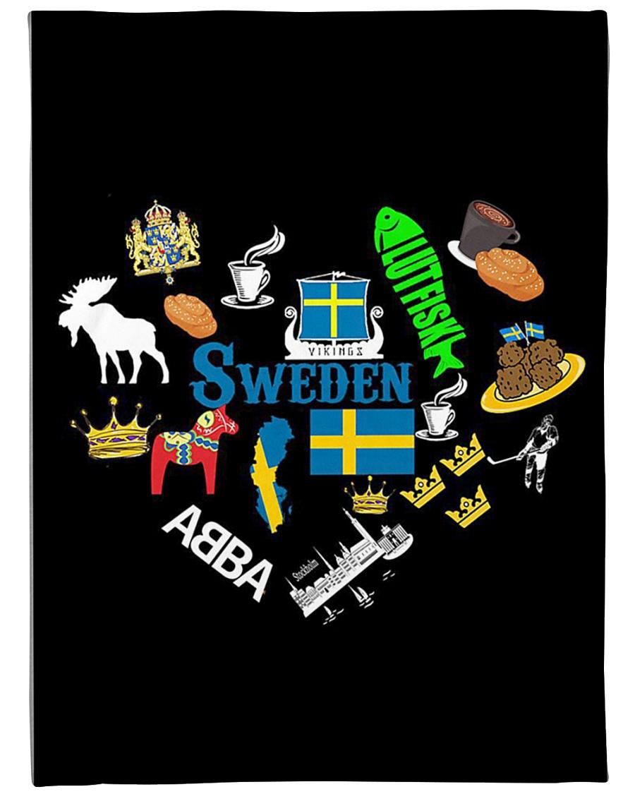 """Love Sweden - Sweden Fleece Blanket Large Fleece Blanket - 60"""" x 80"""""""