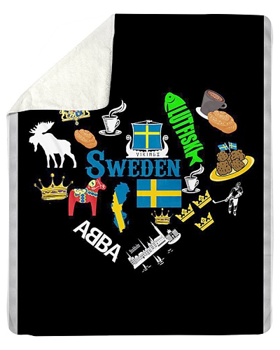 Love Sweden - Sweden Fleece Blanket