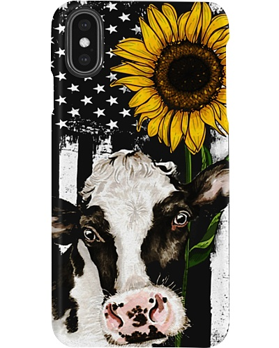 Fall Cow Sunflower Phone Case