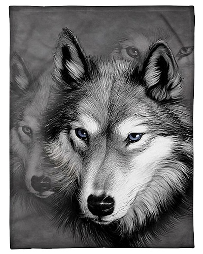 I Love Wolf - Wolf Fleece Blanket