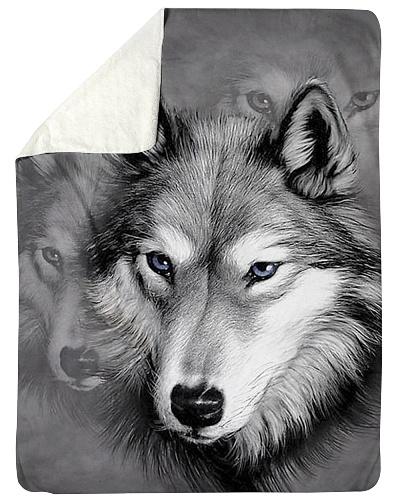 I Love Wolf - Wolf Fleece Blanket