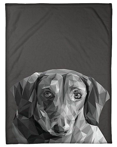 Dachshund Dog Portrait Print Fleece Blanket