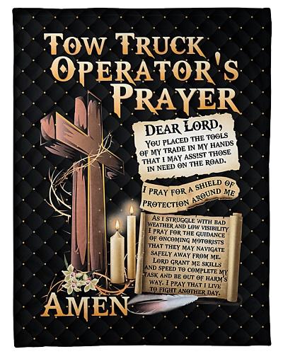 Tow Truck Operator's Prayer Fleece Blanket