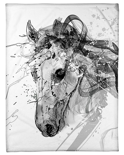 Horse Unique Art G2 - Horse fleece blanket