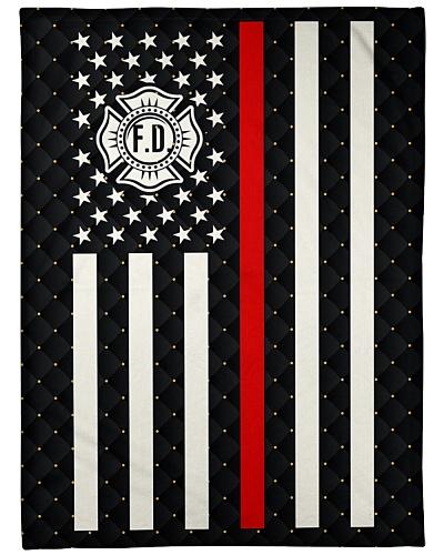 Proud Firefighter Fleece Blanket
