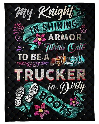 Trucker's Lady Fleece Blanket