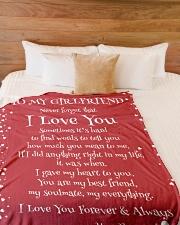 "To My Girlfriend  Large Fleece Blanket - 60"" x 80"" aos-coral-fleece-blanket-60x80-lifestyle-front-02"
