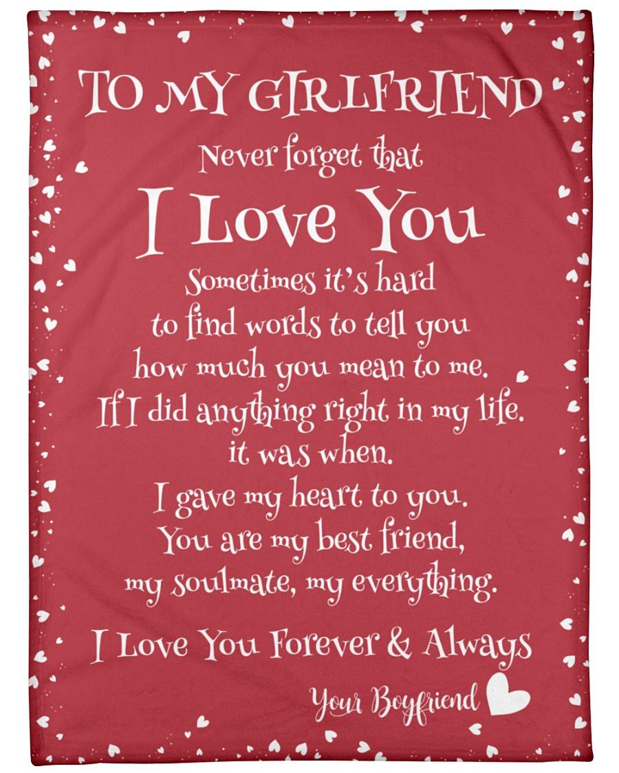 "To My Girlfriend  Large Fleece Blanket - 60"" x 80"""